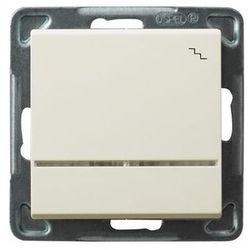 Łącznik schodowy Ospel Sonata ŁP-3RS/M/27 16AX IP20 z podświetleniem ecru