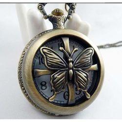 Zegarek w stylu naszyjnika - retro / MOTYLI ZEW / rabat 15%