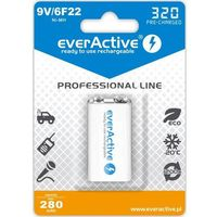 "Akumulatorki, everActive 6F22/9V Ni-MH 320 mAh ready to use ""Professional line"""