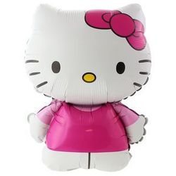 BALON FOLIOWY HELLO KITTY Z KOKARDĄ 14'' 1szt