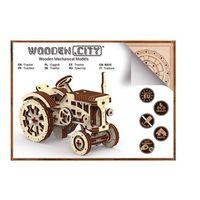 Puzzle, Drewniane puzzle mechaniczne 3D Wooden.City - Traktor #T1