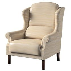 Dekoria Fotel Unique, perłowo-kremowe fale z połyskiem, 85 × 107 cm, Damasco