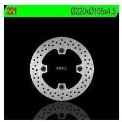 NG221 TARCZA HAMULCOWA HONDA SILVER WING 125/150 '07-'11 (220X105X4,5) (4X10,5MM)