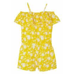 Kombinezon dziewczęcy z dżerseju, bawełna organiczna bonprix żółty ananasowy