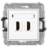 Gniazdka, Gniazdo podwójne Karlik Mini MHDMI-2 HDMI biały