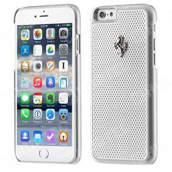 Futerał Ferrari Hardcase perforated Apple iPhone 6 / 6S srebrny
