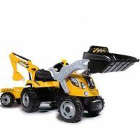 Traktory dla dzieci, Smoy Traktor Na Pedały MAX Przyczepa Koparka