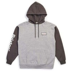 bluza BRIXTON - Palmer Intl Hood Heather Grey-Charcoal (HTGCH) rozmiar: XL