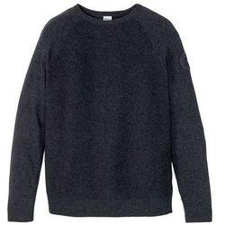 Sweter z bawełny z recyklingu, zrównoważony produkt bonprix antracytowy melanż