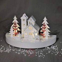 Przepiękny świecznik łukowy LED Świąteczny spokój