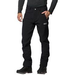 Softshelowe spodnie męskie ZENON SOFTSHELL PANTS MEN black - 54