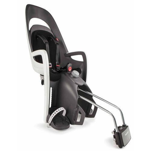 Foteliki rowerowe, Fotelik rowerowy na ramę HAMAX Caress szaro-biały czarna wyściółka do ramy