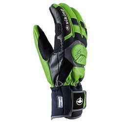 Rękawice narciarskie Viking Racetronic - zielono-czarny viking (-28%)