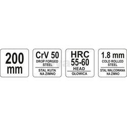 Szczypce tnące czołowe 200 mm / YT-2064 / YATO - ZYSKAJ RABAT 30 ZŁ