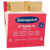 Plastry opatrunkowe, Plaster Opatrunkowy Tekstylny Duży Salvequick Cederroth - 2 Opakowania - 42 Sztuki