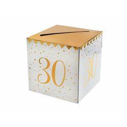 Pudełko na koperty z życzeniami, prezentami na 30-stkę - 1 szt.