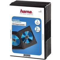 Pudełka i portfele na płyty, Opakowanie na cd/dvd HAMA Pudełka na płyty DVD Double Box 5szt Czarne