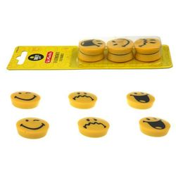 Magnesy do tablic Smiley.World 6szt, 3cm, HERLITZ