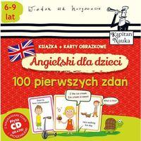 Książki dla dzieci, Angielski dla dzieci 100 pierwszych zdań książka + karty obrazkowe (opr. skórzana)