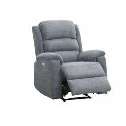 Fotel z tkaniny z elektryczną funkcją relaksu NEVERSI - Antracytowy