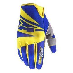 Rękawice AXO SX niebiesko-żółte