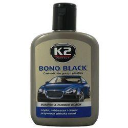 Czernidło do gumy i plastiku BONO BLACK K2 200 ml K2K030 BUMPER & RUBBER BLACK czyści, nabłyszcza i chroni przywraca głęboką czerń