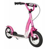 """Hulajnogi, Hulajnoga dla dzieci pompowane koła 10"""" BikeStar kolor różowy"""