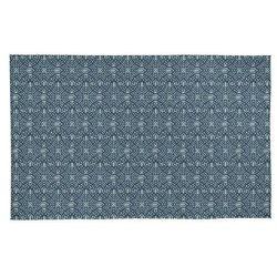 Dywan ANEMONE w etnicznym stylu – 100% bawełny – 120 × 170 cm – kolor niebieski