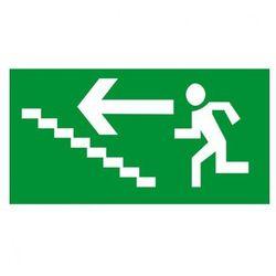 Kierunek drogi ewakuacyjnej schodami w górę w lewo