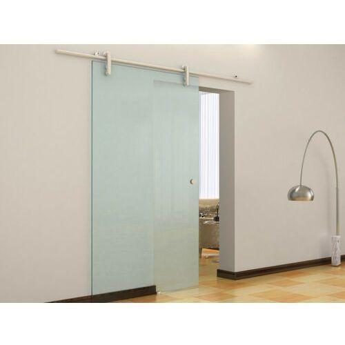 Drzwi wewnętrzne, Naścienne drzwi przesuwne CLEAVER - wys. 205 × szer. 83 cm - Szkło hartowane