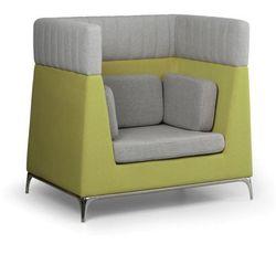 Fotel, 1 miejscowy, szary/zielony