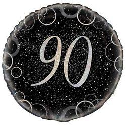 Balon foliowy błyszczący srebrny - 90tka - 47 cm - 1 szt.