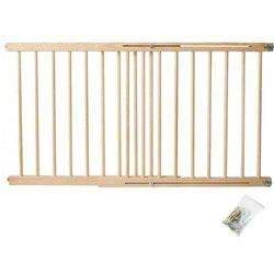 Bramka zabezpieczająca schody, drzwi drewniana 72-122 cm