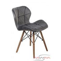 Krzesła, NOWOCZESNE KRZESŁO SKANDYNAWSKIE ART118 POPIEL WELUR