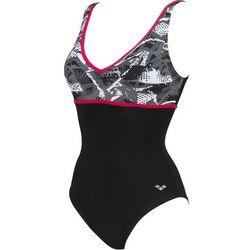 arena Jane Wing Back Jednoczęściowy strój kąpielowy Kobiety, czarny/szary DE 46   US 42 2021 Stroje kąpielowe