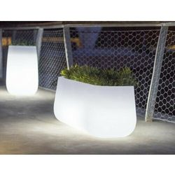 NEW GARDEN donica CAMELIA LARGE C biała - LED