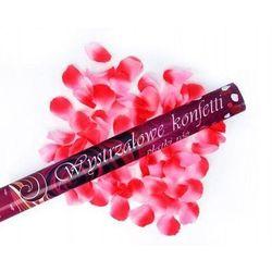 Tuba strzelająca, różowe sztuczne płatki róż, 80 cm, 1 szt.