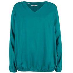 Bluzka z wiskozy, długi rękaw bonprix kobaltowo-turkusowy
