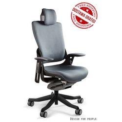 Fotel WAU 2 czarny/ciemny szary - 18 KOLORÓW (Tkanina BL) - ZŁAP RABAT: KOD150