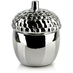 GIA Pojemnik dekoracyjny 11x11xh13cm ŻOŁĄDŹ srebrny