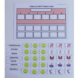 Tablica motywacyjna magnetyczna A4 forma uproszczona różowa