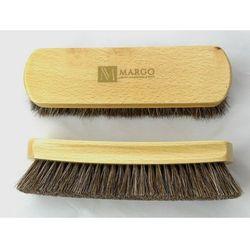 Szczotka z końskiego włosia do czyszczenia butów Margo LUX - średnia 19cm