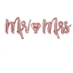 Balon foliowy napis Mr Mrs - 69 x 125 cm