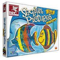 Kreatywne dla dzieci, Zestaw kreatywny Zdobienie cekinami Rybki