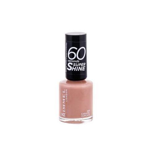 Lakiery do paznokci, Rimmel London 60 Seconds Super Shine lakier do paznokci 8 ml dla kobiet 500 Caramel Cupcake