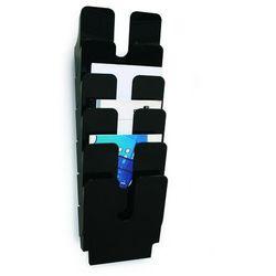 Zestaw 6 pionowych pojemników na dokumenty FLEXIPLUS A4 DURABLE, czarne