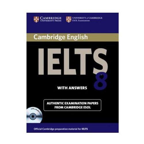 Książki do nauki języka, Cambridge IELTS 8 Self-study Pack (Student's Book with Answers and Audio CDs (2)) (opr. miękka)