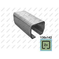Przęsła i elementy ogrodzenia, Profil do bramy przesownej Zn, 136x142x6mm, L3m