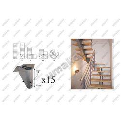 Schody-segment NS240 V 3020-2740mm, set 15x segmen
