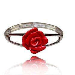 Bransoletka z czerwoną różą